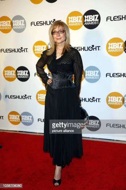 Adult film actress Nina Hartley arrives at the 2015 Xbiz Awards in Los Angeles, USA, on 15 January 2015. Photo: Hubert Boesl - NOWIRESERVICE- |...