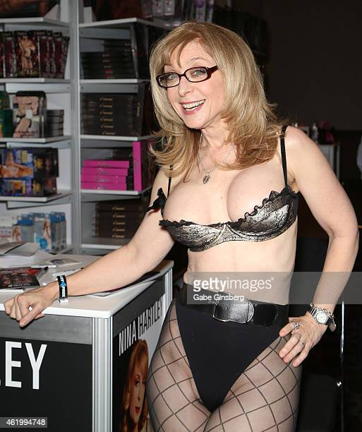 Adult film actress Nina Hartley attends the 2015 AVN Adult Entertainment Expo at the Hard Rock Hotel & Casino on January 22, 2015 in Las Vegas,...