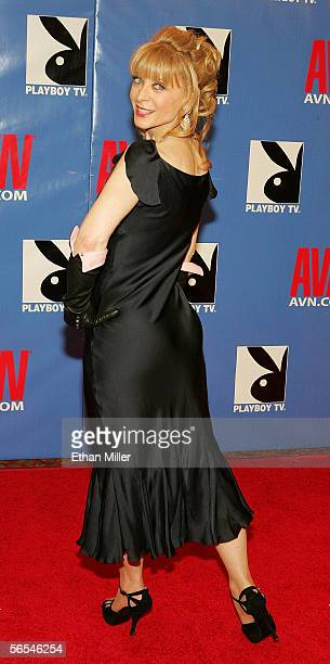 Adult film actress Nina Hartley Hart arrives at the Adult Video News Awards Show at the Venetian Resort Hotel and Casino January 7 2006 in Las Vegas...