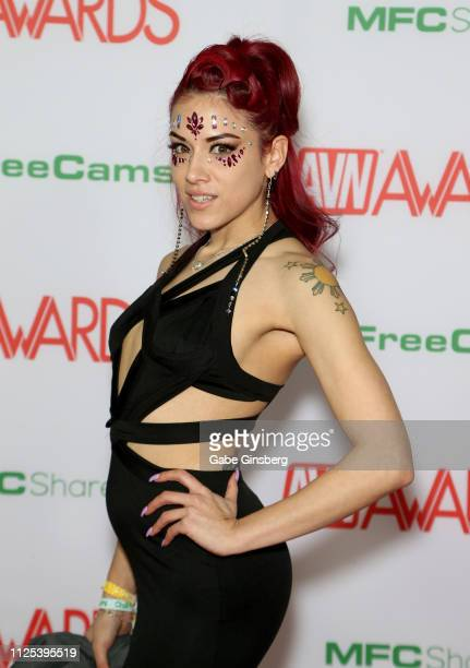Adult film actress Onyx Muse attends the 2019 Adult Video News Awards at The Joint inside the Hard Rock Hotel & Casino on January 26, 2019 in Las...
