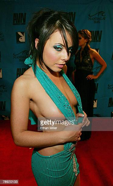 Adult film actress Penny Flame arrives at the 25th annual Adult Video News Awards Show at the Mandalay Bay Events Center January 12 2008 in Las Vegas...