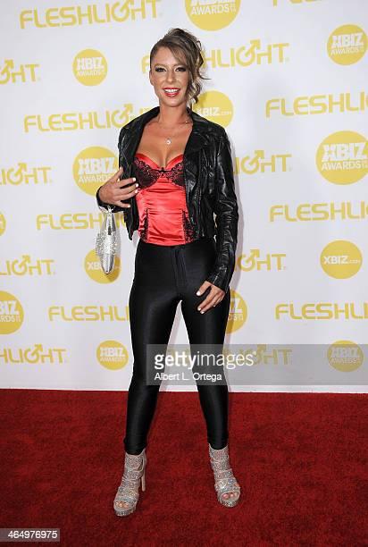 Adult film actress Presley Hart arrives for the 2014 XBIZ Awards held at The Hyatt Regency Century Plaza Hotel on January 24 2014 in Century City...