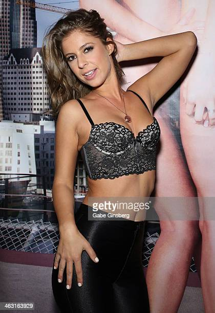 Adult film actress Presley Hart attends the 2014 AVN Adult Entertainment Expo at the Hard Rock Hotel & Casino on January 16, 2014 in Las Vegas,...