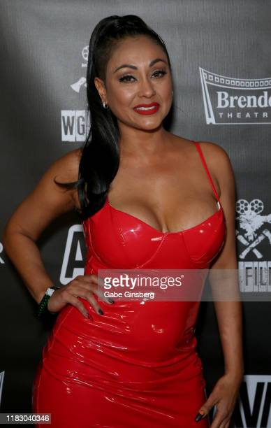 Adult film actress Priya Anjali Rai attends the world premiere of the film LadyKillerTV at the Brenden Theatres inside Palms Casino Resort on October...