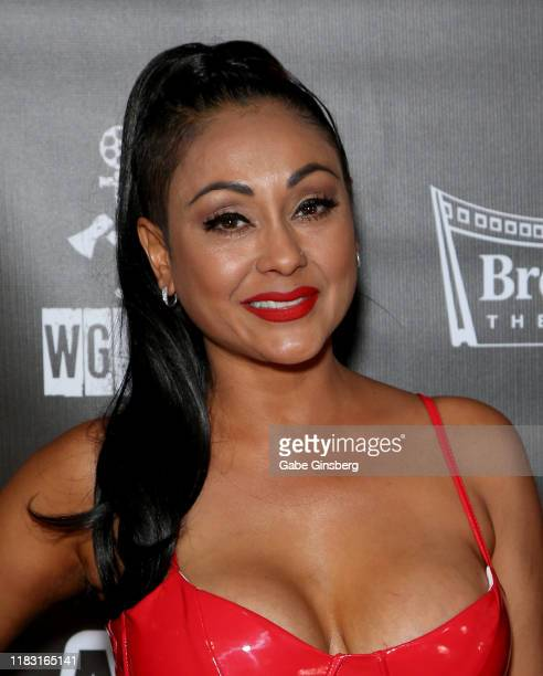 """Adult film actress Priya Anjali Rai attends the world premiere of the film """"LadyKillerTV"""" at the Brenden Theatres inside Palms Casino Resort on..."""