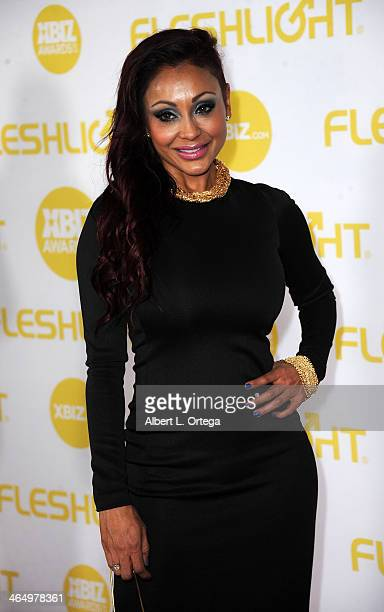 Adult film actress Priya Rai arrives for the 2014 XBIZ Awards held at The Hyatt Regency Century Plaza Hotel on January 24, 2014 in Century City,...