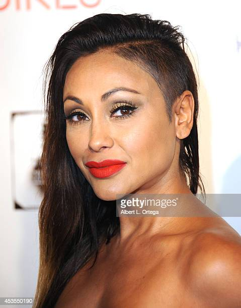 """Adult film actress Priya Rai arrives for the Premiere Of """"Live Nude Girls"""" held at Avalon on August 12, 2014 in Hollywood, California."""
