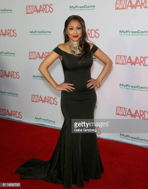 Adult film actress Priya Rai attends the 2018 Adult Video News Awards at the Hard Rock Hotel Casino on January 27 2018 in Las Vegas Nevada