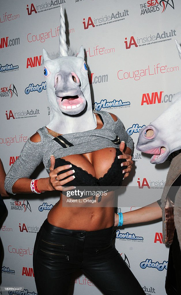 Adult film actress Puma Suede arrives for The 1st Annual Sex Awards 2013 held at Avalon on October 9, 2013 in Hollywood, California.