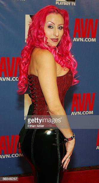 Adult film actress Raven Black arrives at the Adult Video News Awards Show at the Venetian Resort Hotel and Casino January 7 2006 in Las Vegas Nevada