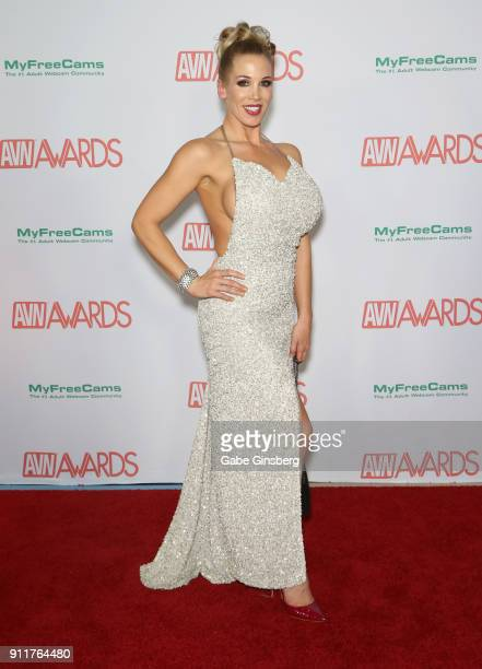 Adult film actress Rebecca More attends the 2018 Adult Video News Awards at the Hard Rock Hotel Casino on January 27 2018 in Las Vegas Nevada
