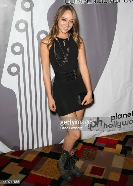 Adult film actress Remy LaCroix arrives at the U2 Compendium media preview at the Sin City Theatre inside Planet Hollywood Resort Casino on July 10...