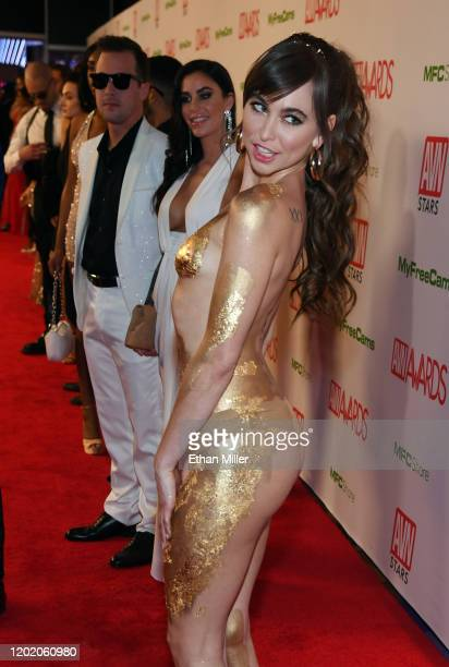 Adult film actress Riley Reid attends the 2020 Adult Video News Awards at The Joint inside the Hard Rock Hotel Casino on January 25 2020 in Las Vegas...