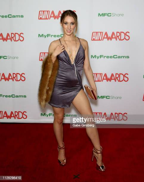 Adult film actress Riley Reyes attends the 2019 Adult Video News Awards at The Joint inside the Hard Rock Hotel Casino on January 26 2019 in Las...
