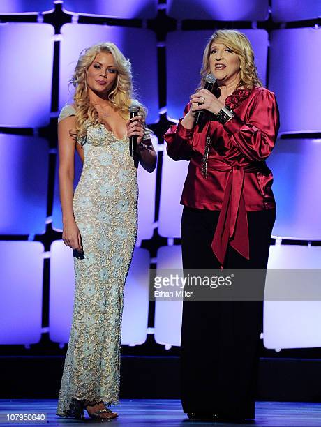Adult film actress Riley Steele and comedian Lisa Lampanelli host the 28th annual Adult Video News Awards Show at The Pearl concert theater at the...