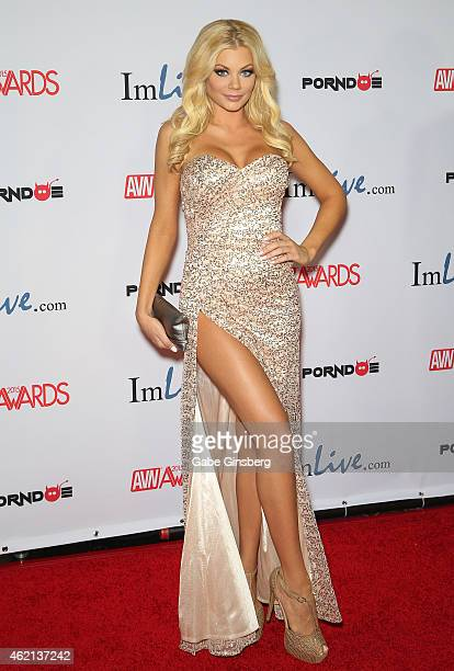 Adult film actress Riley Steele arrives at the 2015 Adult Video News Awards at the Hard Rock Hotel Casino on January 24 2015 in Las Vegas Nevada