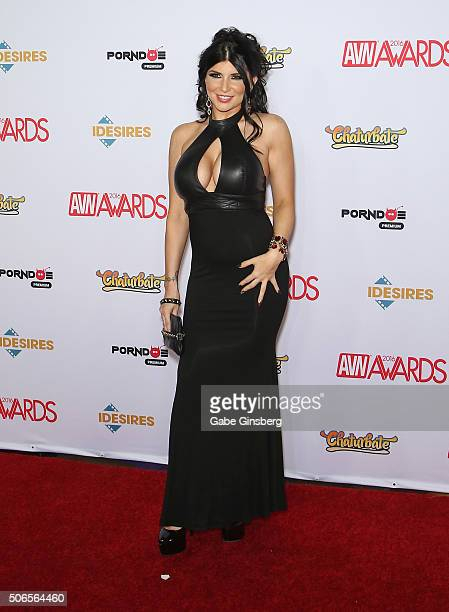 Adult film actress Romi Rain attends the 2016 Adult Video News Awards at the Hard Rock Hotel Casino on January 23 2016 in Las Vegas Nevada