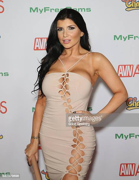 Adult film actress Romi Rain attends the 2017 Adult Video News Awards at the Hard Rock Hotel Casino on January 21 2017 in Las Vegas Nevada