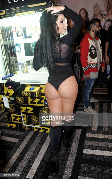 Adult film actress Romi Rain attends the 2017 AVN Adult Entertainment Expo at the Hard Rock Hotel Casino on January 20 2017 in Las Vegas Nevada