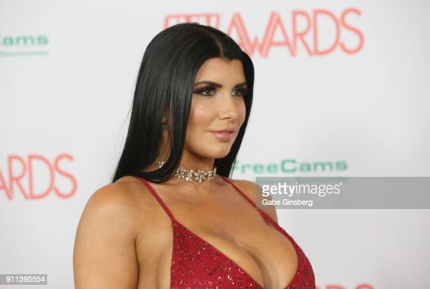 Adult film actress Romi Rain attends the 2018 Adult Video News Awards at the Hard Rock Hotel Casino on January 27 2018 in Las Vegas Nevada