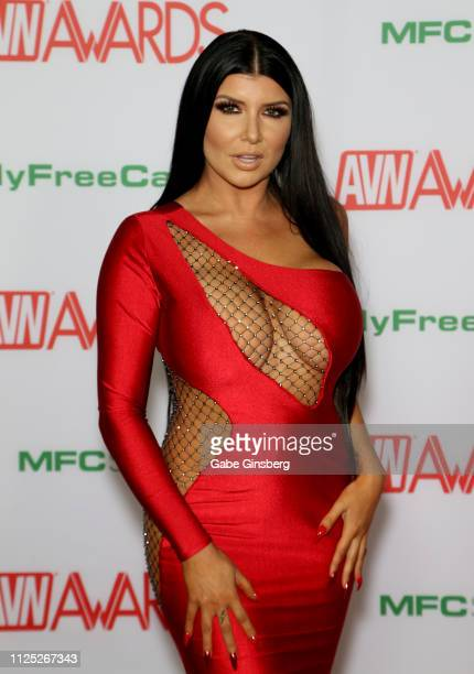 Adult film actress Romi Rain attends the 2019 Adult Video News Awards at The Joint inside the Hard Rock Hotel Casino on January 26 2019 in Las Vegas...