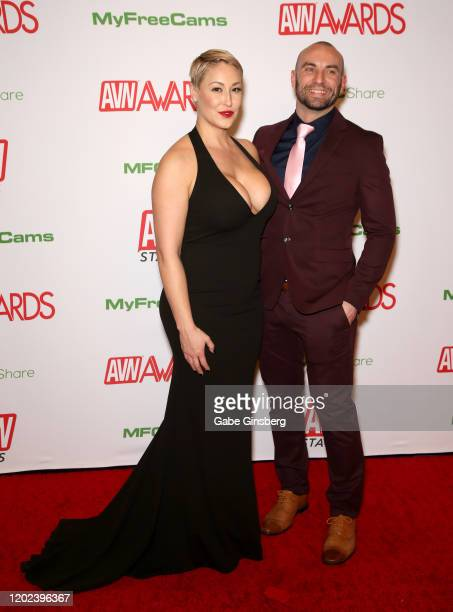 Adult film actress Ryan Keely and adult film actor Stirling Cooper attends the 2020 Adult Video News Awards at The Joint inside the Hard Rock Hotel...