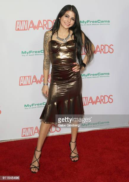 Adult film actress Sadie Pop attends the 2018 Adult Video News Awards at the Hard Rock Hotel Casino on January 27 2018 in Las Vegas Nevada
