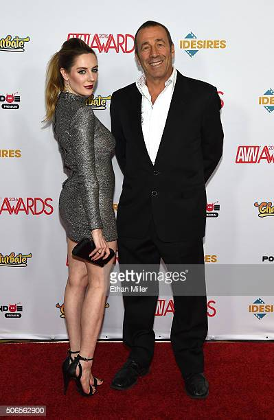 Adult film actress Samantha Bentley and adult film producer/director John Stagliano attend the 2016 Adult Video News Awards at the Hard Rock Hotel...