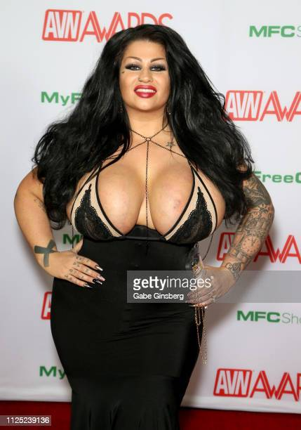 Adult film actress Samantha Mack attends the 2019 Adult Video News Awards at The Joint inside the Hard Rock Hotel Casino on January 26 2019 in Las...