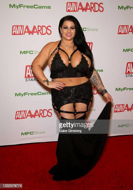 Adult film actress Samantha Mack attends the 2020 Adult Video News Awards at The Joint inside the Hard Rock Hotel Casino on January 25 2020 in Las...