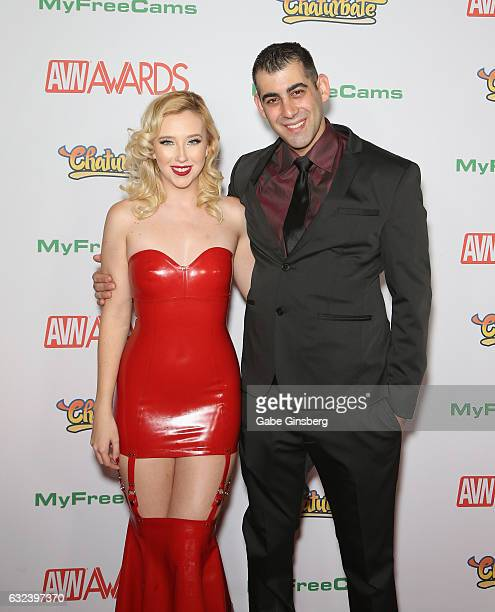 Adult film actress Samantha Rone and adult film director Alan E of Stills by Alan attend the 2017 Adult Video News Awards at the Hard Rock Hotel...