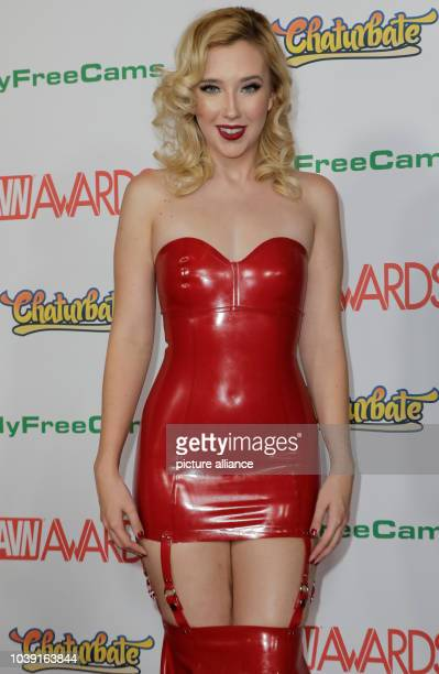 Adult film actress Samantha Rone attends the Adult Video News Awards AVN Awards at Hard Rock Hotel Casino in Las Vegas Nevada USA on 21 January 2017...