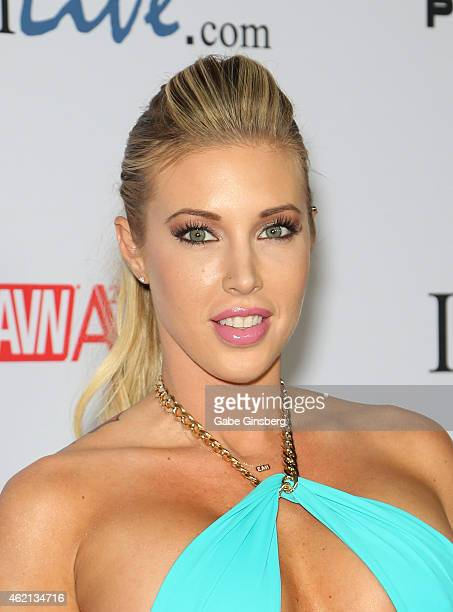 Adult film actress Samantha Saint arrives at the 2015 Adult Video News Awards at the Hard Rock Hotel Casino on January 24 2015 in Las Vegas Nevada