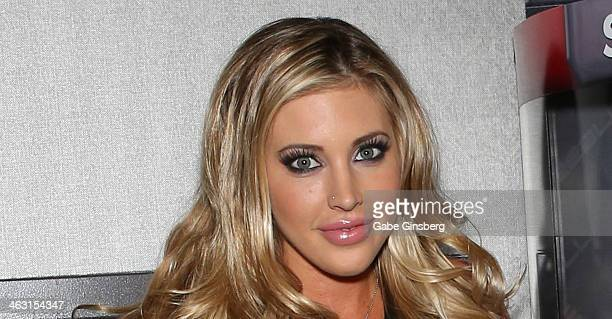 Adult film actress Samantha Saint attends the 2014 AVN Adult Entertainment Expo at the Hard Rock Hotel Casino on January 16 2014 in Las Vegas Nevada