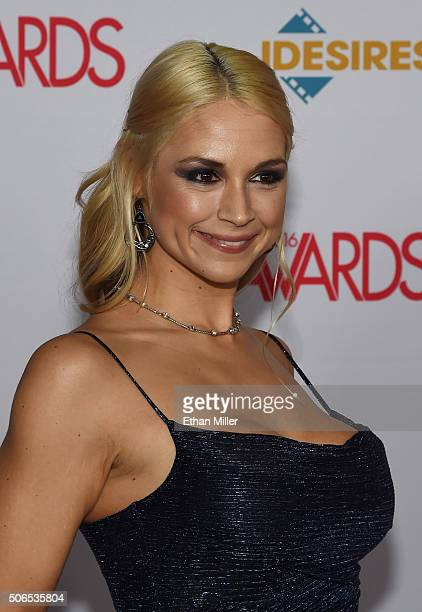 Adult film actress Sarah Vandella attends the 2016 Adult Video News Awards at the Hard Rock Hotel Casino on January 23 2016 in Las Vegas Nevada