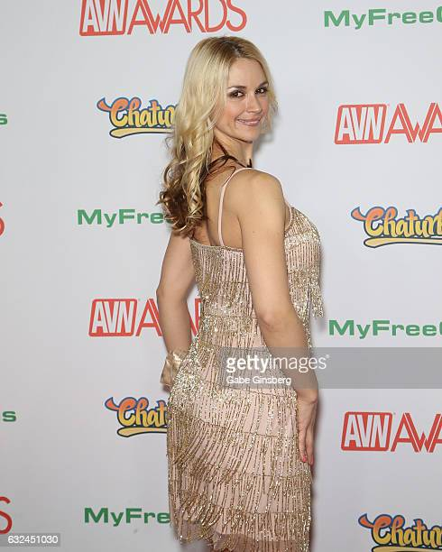 Adult film actress Sarah Vandella attends the 2017 Adult Video News Awards at the Hard Rock Hotel Casino on January 21 2017 in Las Vegas Nevada