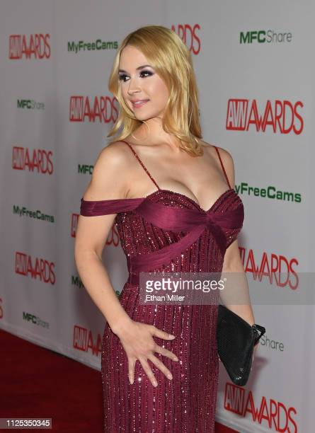 Adult film actress Sarah Vandella attends the 2019 Adult Video News Awards at The Joint inside the Hard Rock Hotel Casino on January 26 2019 in Las...