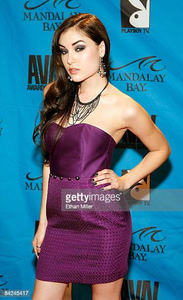 Adult film actress Sasha Grey arrives at the 26th annual Adult Video News Awards Show at the Mandalay Bay Events Center January 10, 2009 in Las...