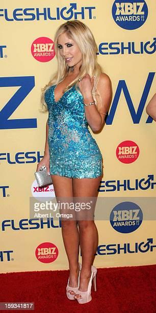 Adult Film actress Sasha Reign arrives for the 2013 XBIZ Awards held at the Hyatt Regency Century Plaza on January 11 2013 in Century City California