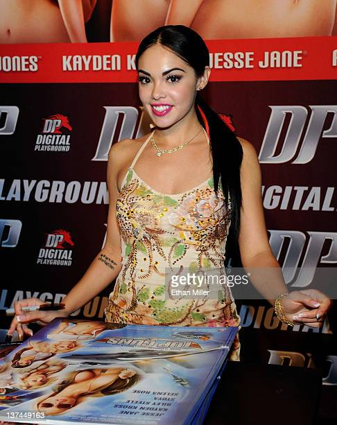 Adult film actress Selena Rose appears during an autograph signing for Digital Playground at the 2012 AVN Adult Entertainment Expo at The Joint...