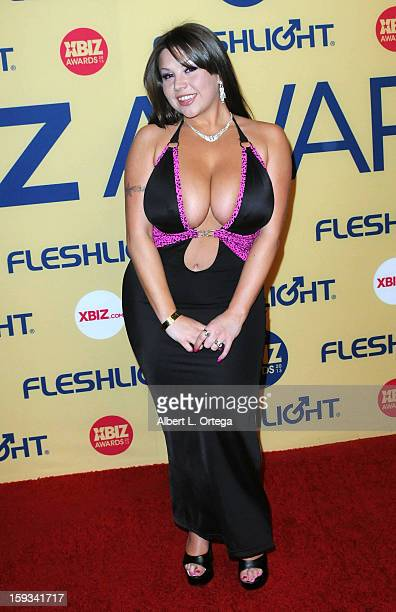 Adult Film actress Sheridan Love arrives for the 2013 XBIZ Awards held at the Hyatt Regency Century Plaza on January 11 2013 in Century City...