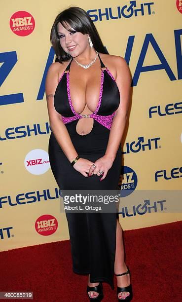 Adult Film actress Sheridan Love arrives for the 2013 XBIZ Awards held at the Hyatt Regency Century Plaza on January 11 2013 in Century City...