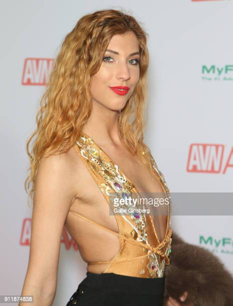 Adult film actress Shona River attends the 2018 Adult Video News Awards at the Hard Rock Hotel Casino on January 27 2018 in Las Vegas Nevada
