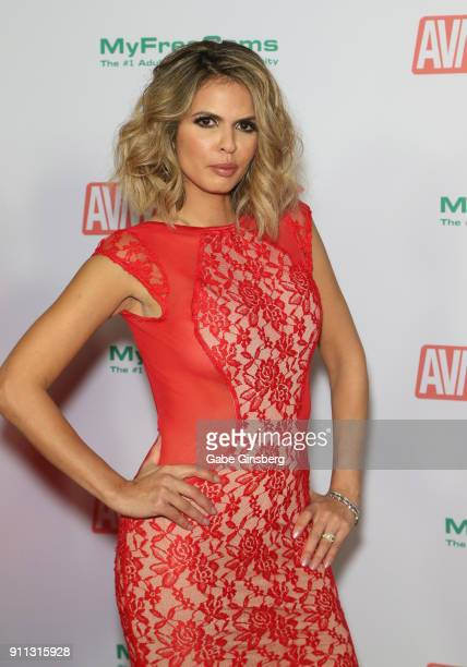 Adult film actress Shy Love attends the 2018 Adult Video News Awards at the Hard Rock Hotel Casino on January 27 2018 in Las Vegas Nevada