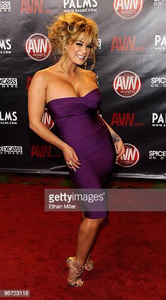 Adult film actress Shyla Stylez arrives at the 27th annual Adult Video News Awards Show at the Palms Casino Resort January 9 2010 in Las Vegas Nevada