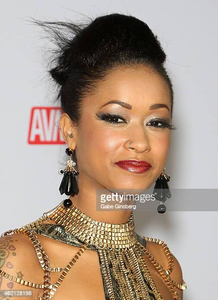 Adult film actress Skin Diamond arrives at the 2015 Adult Video News Awards at the Hard Rock Hotel Casino on January 24 2015 in Las Vegas Nevada