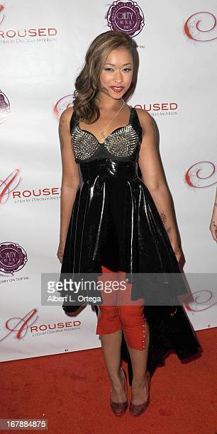 Adult film actress Skin Diamond arrives for the Premiere Of 'Aroused' held at Landmark Nuart Theatre on May 1 2013 in Los Angeles California