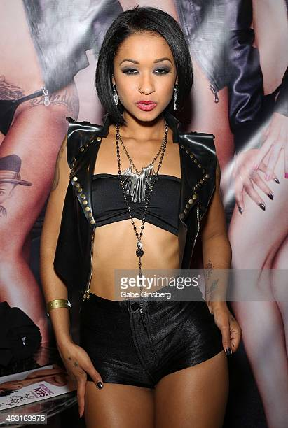 Adult film actress Skin Diamond attends the 2014 AVN Adult Entertainment Expo at the Hard Rock Hotel Casino on January 16 2014 in Las Vegas Nevada