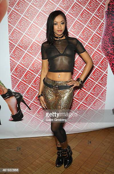 Adult film actress Skin Diamond attends the 2015 AVN Adult Entertainment Expo at the Hard Rock Hotel Casino on January 21 2015 in Las Vegas Nevada