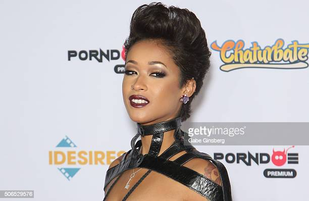 Adult film actress Skin Diamond attends the 2016 Adult Video News Awards at the Hard Rock Hotel Casino on January 23 2016 in Las Vegas Nevada